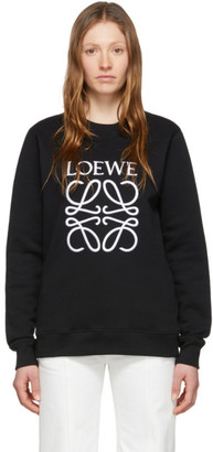 Loewe Black Embroidered Anagram Sweatshirt
