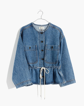Madewell Denim Claremont Drawstring Jacket in Saybrook Wash