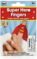 Superhero Fingers Tattoos Set