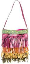 Etro Embossed Fringe Shoulder Bag