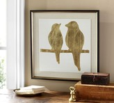 Pottery Barn Gold Leaf Bird Framed Print