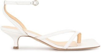 A.W.A.K.E. Mode Kitten Heel Strappy Sandals