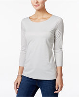 Charter Club Petite Metallic Top, Only at Macy's