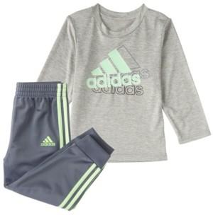 adidas Baby Boys Long Sleeve Active Sport Top & Jogger Set