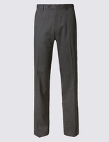 M&s Collection Tailored Fit Textured Trousers