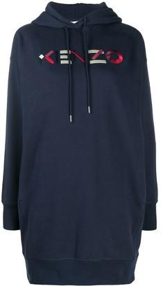 Kenzo Logo-Embroidered Sweatshirt Dress