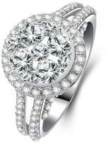 Epinki Women Rings, 925 Sterling Ring Proposal Ring Cubic Zirconia Size 9