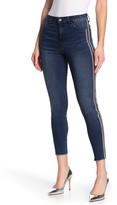 Tractr High Rise Skinny Leg Beaded Stripe Jeans
