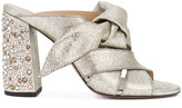 Chloé Nellie crystal heel mule sandals - women - Leather - 37