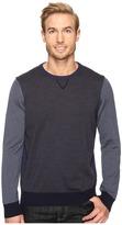 Thomas Dean & Co. Color Block Merino Crew Sweater