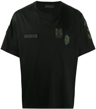 Diesel Black Gold multi-logo patch loose fit T-shirt