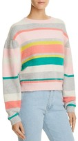 Rebecca Taylor Striped Cropped Sweater