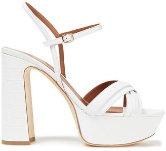 Malone Souliers Mila 125 Croc-effect Leather Platform Sandals