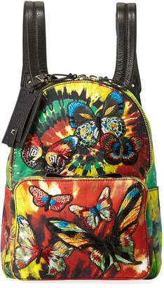 Valentino Garavani Tie-Dye Butterfly-Embroidered Backpack