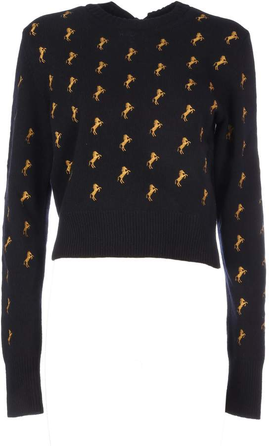 39225462cf7fd8 Chloé Blue Long Sleeve Women's Sweaters - ShopStyle