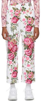 Collina Strada White Floral Chason Jeans