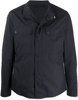 Ermenegildo Zegna Multi-Pocket Funnel-Neck Jacket