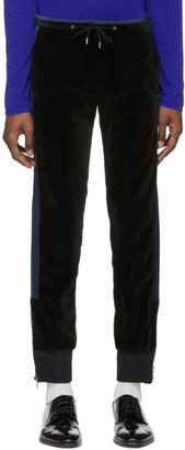 Paul Smith Black and Navy Velvet Lounge Pants