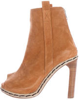 Opening Ceremony Suede Peep-Toe Ankle Boots