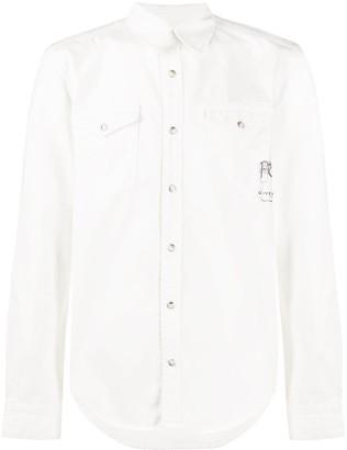 Givenchy Fleurs button-up shirt