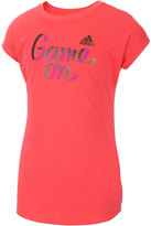 adidas Girls 7-16 climalite Drop Shoulder Graphic Tee