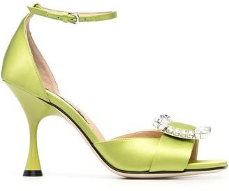Sergio Rossi Twenty crystal-buckle sandals