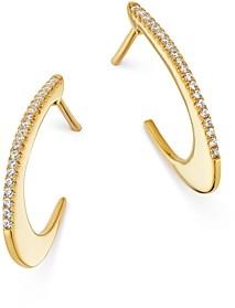 Bloomingdale's Pave Diamond Oval Hoop Earrings in 14K Yellow Gold, 0.10 ct. t.w. - 100% Exclusive