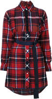 Sacai checked shirt dress