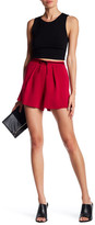 Maje Contrast Suede Ribbed Lace Short