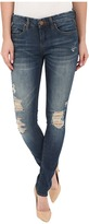 Blank NYC Skinny Classique Jeans with Distressing in Denim Blue