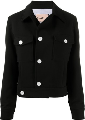 Plan C Contrast Button Jacket