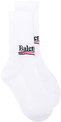 Balenciaga Logo Print Ankle Socks