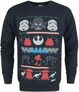 Star Wars Official Dark Side Fair Isle Christmas Men's Sweater (L)