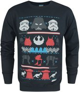 Star Wars Official Dark Side Fair Isle Christmas Men's Sweater (M)