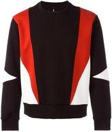Neil Barrett geometric sweatshirt - men - Cotton/Polyurethane/Spandex/Elastane/Viscose - XL