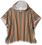Burberry Reversible Icon Stripe Merino Wool Hooded Poncho (Big Kids) (Archive Beige) Kid's Clothing