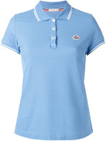 Moncler striped trim polo shirt - women - Cotton - XL