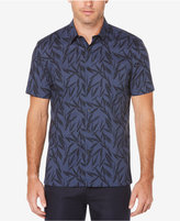 Perry Ellis Big & Tall Men's Leaf-Print Cotton Shirt