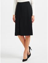 John Lewis Crepe Pleat Skirt, Black