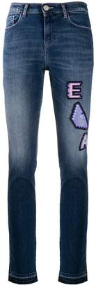 Emporio Armani Ea7 slim-fit logo patch denim jeans