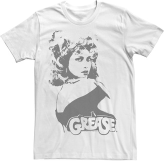Licensed Character Men's Grease Sandy Black and White Portrait Tee