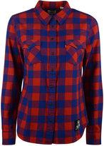 Levi's Women's New England Patriots Plaid Button-Up Shirt