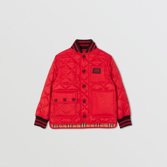Burberry Childrens Recycled Polyester Diamond Quilted Jacket