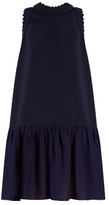 Roksanda Casy ruffled-hem cady dress