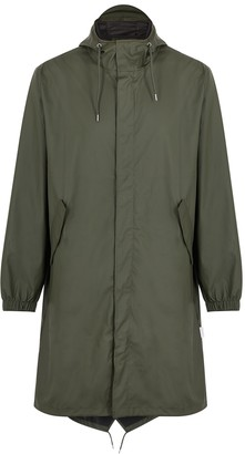 Rains Fishtail dark green rubberised raincoat