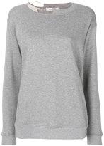 Valentino deconstructed crew neck jumper - women - Cotton/Polyamide - XS