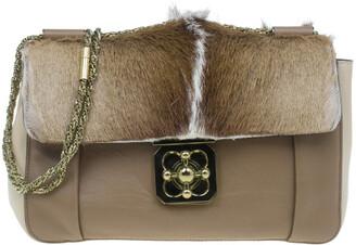 Chloé Beige Gazelle Fur Large Elsie Shoulder Bag