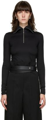 Jil Sander Black Half-Zip Sweater