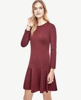 Ann Taylor Petite Ponte Flounce Dress
