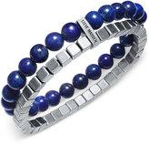 Steve Madden Men's Stainless Steel Beaded Bracelet